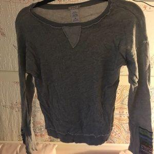 Free People sweater w sleeve beading